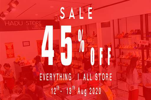 SALE 45% everything all store